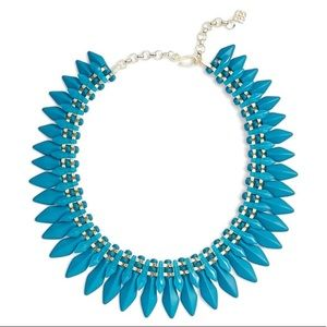 NWT Kendra Scott Gold Lazarus Necklace in Teal!!